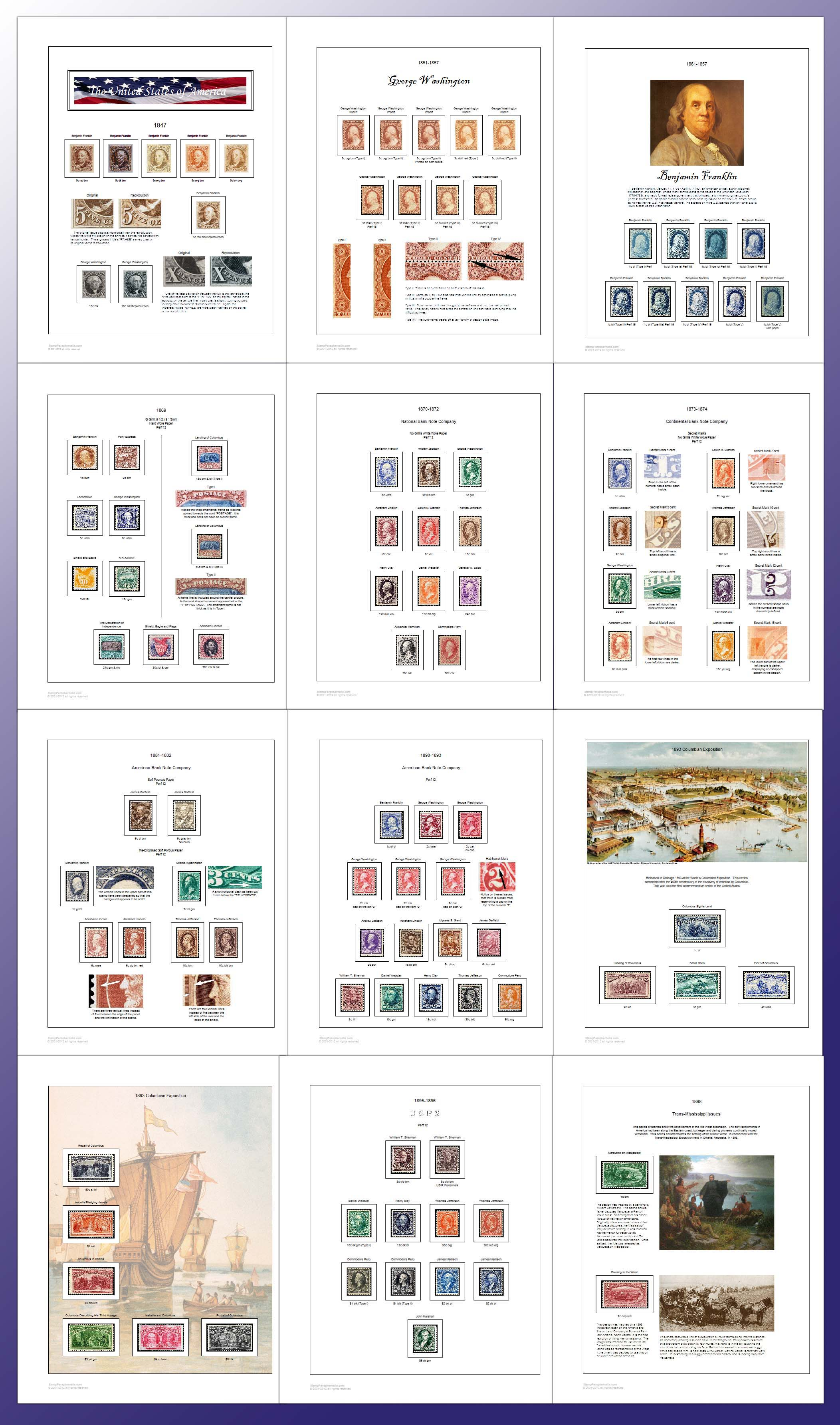 Exceptional image in printable stamp album pages